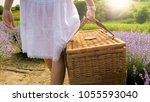 rear view photo of young woman...   Shutterstock . vector #1055593040