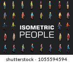 isometric 3d people | Shutterstock .eps vector #1055594594