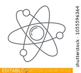 atom icon. symbol of science ... | Shutterstock .eps vector #1055596364