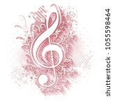 abstract musical background... | Shutterstock .eps vector #1055598464