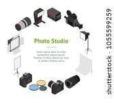 photo studio equipment banner... | Shutterstock .eps vector #1055599259