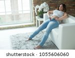 woman with a thick figure   | Shutterstock . vector #1055606060