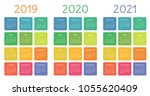 calendar set on 2019  2020 and... | Shutterstock .eps vector #1055620409