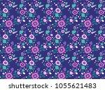 flower pattern. vector. endless.   Shutterstock .eps vector #1055621483