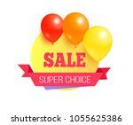 super choice sale promo label... | Shutterstock .eps vector #1055625386