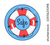 safe lifebuoy rounded icon  sea ... | Shutterstock .eps vector #1055625398