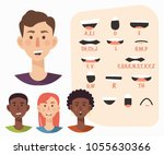 lip sync collection for... | Shutterstock .eps vector #1055630366