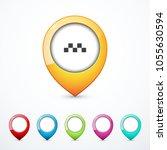 set of map pins. vector... | Shutterstock .eps vector #1055630594