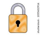 security padlock icon   Shutterstock .eps vector #1055632916