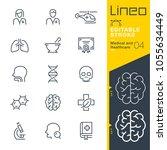 lineo editable stroke   medical ...   Shutterstock .eps vector #1055634449