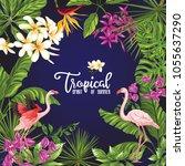 template of poster  banner ... | Shutterstock .eps vector #1055637290