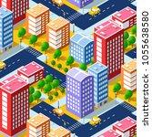 isometric 3d city megapolis...   Shutterstock .eps vector #1055638580
