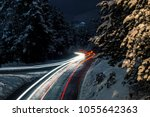 Snowy Mountain Forest Road Wit...