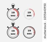 timer 19 seconds on gray... | Shutterstock .eps vector #1055643950