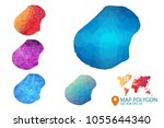 nauru map   set of geometric... | Shutterstock .eps vector #1055644340