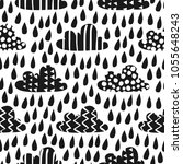 seamless pattern with funny... | Shutterstock .eps vector #1055648243