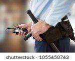 digital composite of security... | Shutterstock . vector #1055650763