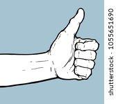 hand thumb up illustration... | Shutterstock .eps vector #1055651690