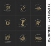 vector set of logo design... | Shutterstock .eps vector #1055652563