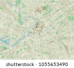 vector city map of manchester... | Shutterstock .eps vector #1055653490
