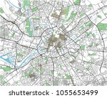 colorful manchester vector city ... | Shutterstock .eps vector #1055653499