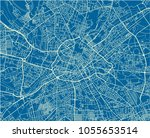 blue and white vector city map... | Shutterstock .eps vector #1055653514