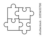 puzzle pieces icon  | Shutterstock .eps vector #1055653700