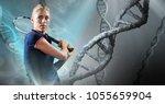 digital composite of tennis... | Shutterstock . vector #1055659904