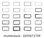 vector grunge rectangles.... | Shutterstock .eps vector #1055671739