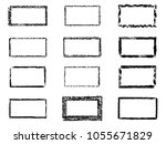vector grunge rectangles.... | Shutterstock .eps vector #1055671829