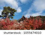 roof of japanese temple ... | Shutterstock . vector #1055674010