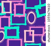 seamless pattern picture frame. ... | Shutterstock .eps vector #1055674610