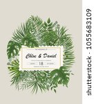 wedding invitation  rsvp modern ... | Shutterstock .eps vector #1055683109