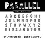 vector of modern alphabet... | Shutterstock .eps vector #1055685950