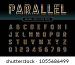vector of modern alphabet... | Shutterstock .eps vector #1055686499