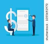 cartoon businessman icon | Shutterstock .eps vector #1055692970