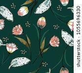 beautiful seamless vector... | Shutterstock .eps vector #1055696330