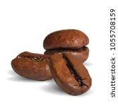 fried coffee beans. fragrant... | Shutterstock .eps vector #1055708159