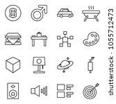flat vector icon set   dollar... | Shutterstock .eps vector #1055712473