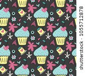 vector seamless pattern with... | Shutterstock .eps vector #1055712878