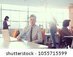 young entrepreneur freelancer... | Shutterstock . vector #1055715599