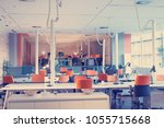 big bright empty modern office... | Shutterstock . vector #1055715668