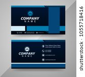 business card template vector... | Shutterstock .eps vector #1055718416