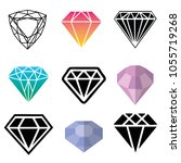 diamond colorful set | Shutterstock .eps vector #1055719268