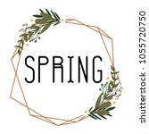 spring background arts | Shutterstock .eps vector #1055720750