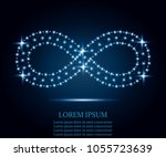 infinity icon from lines ... | Shutterstock .eps vector #1055723639