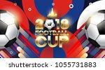 football 2018 world... | Shutterstock .eps vector #1055731883
