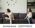frustrated upset husband... | Shutterstock . vector #1055745623