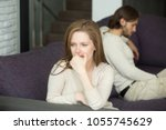 sad disappointed wife not... | Shutterstock . vector #1055745629