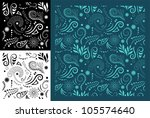 stylised maori koru seamless... | Shutterstock .eps vector #105574640